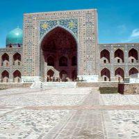 1985.04. - Samarkand, Regisztan square-Tilla Kari medressze, Самарканд