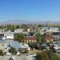 Vahdat city from the roof., Узун