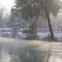 River Anhor in winter, Верхневолынское