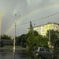 Радуга по улице Ойбек, Димитровское
