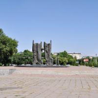 Cosmonaut Dzhanibekov Monument in Tashkent, Uzbekistan., Димитровское