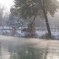 River Anhor in winter, Крестьянский