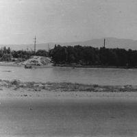 Сыр-Дарья весной 1964 года в районе улицы Запорожье у быков старого моста., Бекабад
