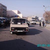 Panjshanbe bus stop - Остановка Панчшанбе, Пскент