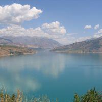 Charvak reservoir, Uzbekistan - водохранилище Чарвак, Узбекистан, Пскент