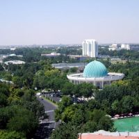 Modern Tashkent- Museum of the History of the Temurides view from the Uzbekistan Hotel, Пскент