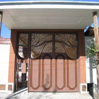 Ferghana, street, gate, Кувасай