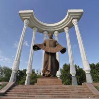 Monument to Akmet al Fergani in Fergana, Uzbekistan.