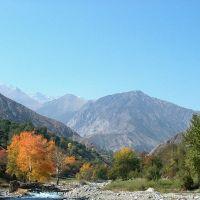 Shakhimardan, Ak-Su river, autumn, Язъяван