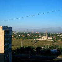 Some factory in Lazurnyy district, Kramatorsk, Беленькое