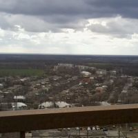 вид с крыши КХП на Ж/Д больницу, Волноваха