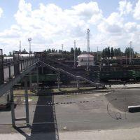 мост через станцию, Волноваха
