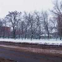 Школьный двор зимой, Горловка