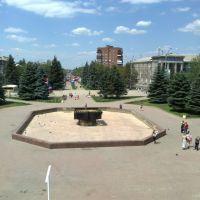 С большого экрана на площади, Горловка