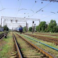 """ЧС2-480 с фирменным поездом""""Лугань""""., Дебальцево"""