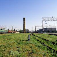 Общий вид станции Дебальцево.На переднем плане водонапорная башня., Дебальцево