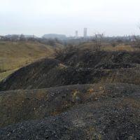 Старые отвалы и копры шахты Дзержинского, Дзержинск