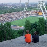Стадион Шахтер с знаменитого террикона