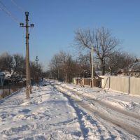 зимняя улица Леси Украинки, Жданов