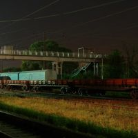 Train station Rutchenkovo at night (Станция Рутченково ночью), Жданов