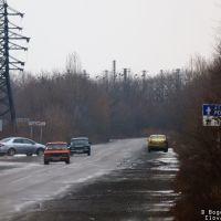 Донецкая обл., Иловайск, вид в сторону Ростова-на-Дону. Т-05-07, Иловайск
