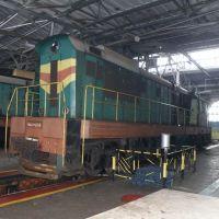 ЧМЭ3-6014 на обточке бандажей колесных пар., Иловайск