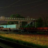 Train station Rutchenkovo at night (Станция Рутченково ночью), Карло-Либкнехтовск