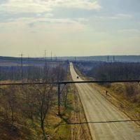 Трасса на Донецк с жд моста, Карло-Марксово