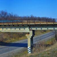 ЖД мост через трассу Донецк-Луганск у Веровки, Карло-Марксово