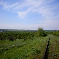 Ж/д путь с бывшего Веровского рудника, Карло-Марксово