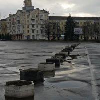 Площадь Ленина. После дождя, Краматорск