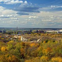 "View from the attraction of the park, ""Jubilee"". Kramatorsk. Kramatorsk. Вид из ""Колеса обозрения"" на парк ""Юбилейный"".  Краматорск, Краматорск"