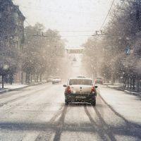Sotsialisticheskaya st. morning January 1, 2012 / ул.Социалистическая утром 1 января 2012, Краматорск