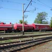 пожарный поезд, Красный Лиман