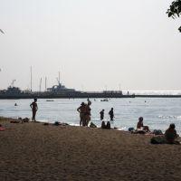 ранковий пляж .., Мариуполь