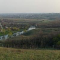 Старобешево с холма у заповедника (вюз), Старобешево