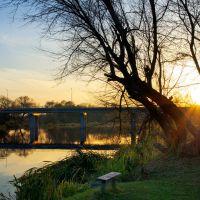 Скамейка у реки / Bench near the river, Барановка