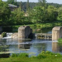 Першотравенськ, залишки старого мосту. Pershotravensk, remains of the old bridge, Броницкая Гута
