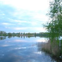 The lake in Volodarsk-Volynsky, Володарск-Волынский