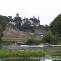вид на мост и церковь, Городница