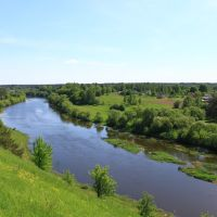 The Sluch river in Horodnytsya., Городница