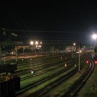Ночной вид станции Коростень, Коростень
