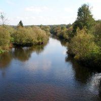 Vid na reku vozle kostela, Лугины