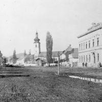 теперeшняя школа №3 и старая католическая церковь, Мукачево