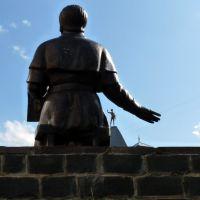Пам'ятник Духновичу з Меркурієм на колишній друкарні, Мукачево