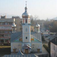 Вид на центр с пятиэтажки, Свалява