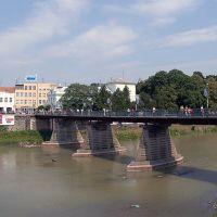 Пешеходный мост через реку Уж, Ужгород