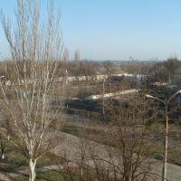 Вид с окна на стадион Колос, Акимовка