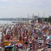 Пляж в разгар сезона, Бердянск
