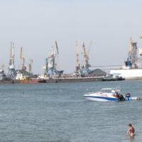 Панорама порта Бердянск., Бердянск